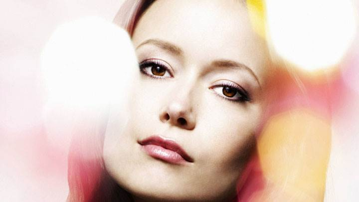 Summer Glau Pink Lips Face Closeup